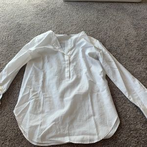 Ann Taylor Loft White Peasant Top
